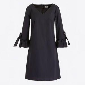 euc jcrew ruffle tie sleeve dress h5399